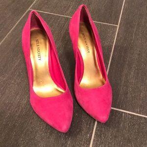 LAST CHANCE Pink Suede Heels